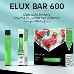 elux bar 600 puff disposable pod kit